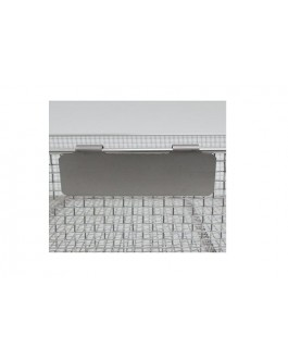 Mesh Basket Labels with Clips (Stainless Steel)